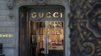 Devanture d'un magasin Gucci