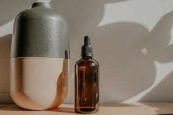 Une bouteille d'huile de ricin